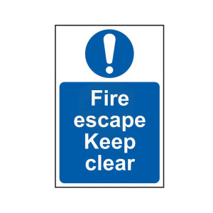 Scan Safety Sign - Fire Escape Keep Clear