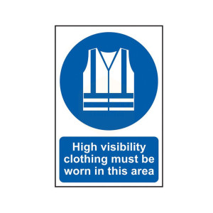Scan Safety Sign - High Visibility Clothing Must Be Worn In This Area