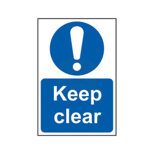 Scan Safety Sign - Keep Clear