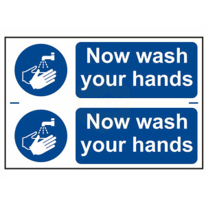 Scan Safety Sign - Now Wash Your Hands