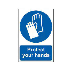 Scan Safety Sign - Protect Your Hands