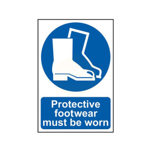 Scan Safety Sign - Protective Footwear Must Be Worn