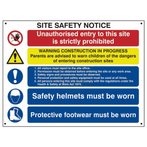 Scan Safety Sign - Composite Site Notice