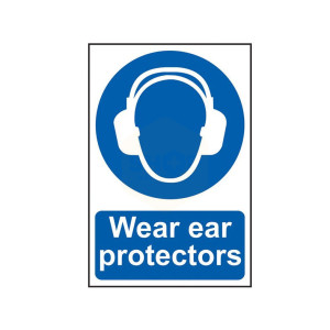 Scan Safety Sign - Wear Ear Protectors
