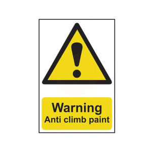 Scan Safety Sign - Warning Anti Climb Paint