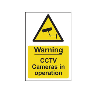Scan safety Sign - Warning CCTV Cameras In Operation