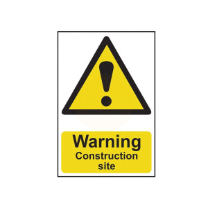 Scan Safety Sign - Warning Construction Site