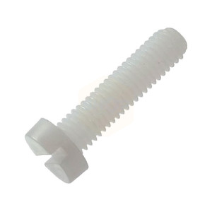 Slotted Cheese Head Machine Screws - Nylon