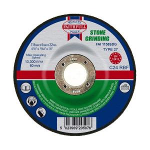 Stone Grinding Discs - Depressed Centre