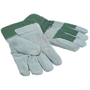Town and Country Men's Fleece Lined Leather Palm Gloves