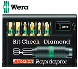 Wera Diamond Bi-Torsion Sets with Rapidaptor Holder
