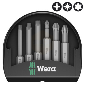 Wera Mini-Check PH/PZ/TX 50mm Screwdriver Bit Sets
