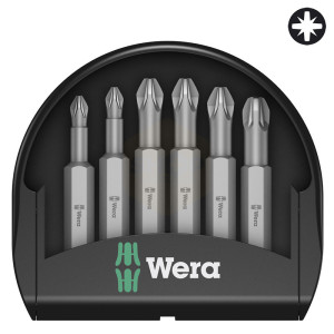 Wera Mini-Check Pozidriv 50mm Screwdriver Bit Sets