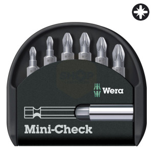 Wera Mini-Check Pozidriv Screwdriver Bit Set with Bit Driver
