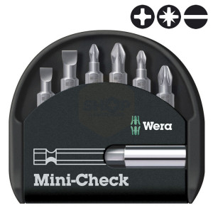 Wera Mini-Check Universal Screwdriver Bit Set with Bit Driver