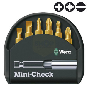 Wera Mini-Check Universal Tin Screwdriver Bit Set with Bit Driver