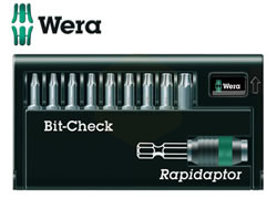 Wera Torx Bit-Check Set with Rapidaptor Bit Holder