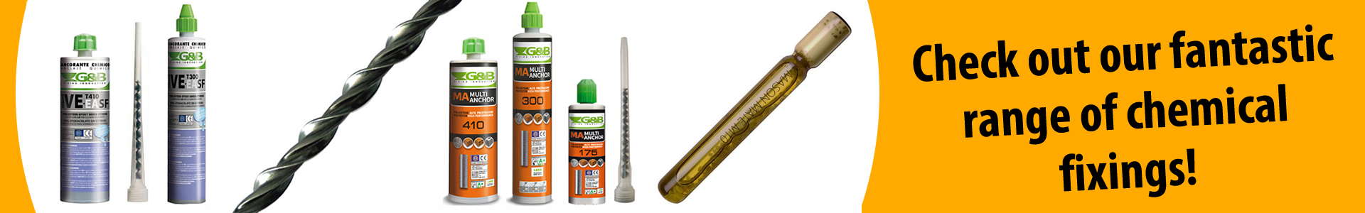 Check out our fantastic range of chemical fixings!